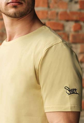Футболка Staff light beige logo графіт FOT0040 XS, 44, фото 2