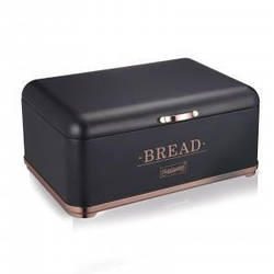 Хлебница Maestro MR-1677-CU-BL  34,5х25х16,5 см, откидная крышка