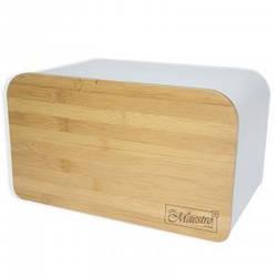 Хлібниця Maestro MR-1770-W 35х21х21 см, відкидна кришка