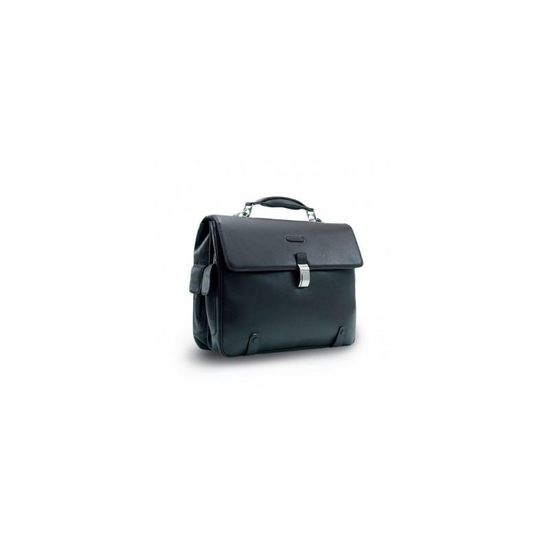 Класичний діловий портфель чоловічий шкіряний Італія 42*33*13 див. чорний 2201370