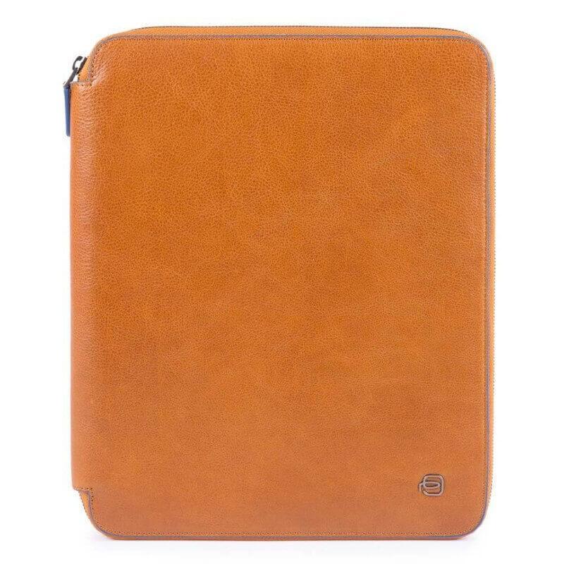 Папка кожаная для документов с блокнотом Италия 26,5*32*2,5 см. коричневая 2201391