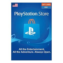 Подарункова карта Playstation Network поповнення гаманця на 10 USD, US-регіон електронний ключ