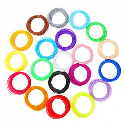 Набір пластику для 3D-ручок ABS 1,75 мм, 5м 20 кольорів