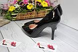 Туфлі жіночі класичні чорні, фото 4