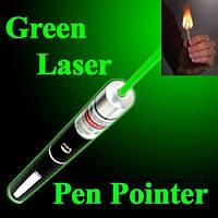 Лазерная ручка указка Green Laser Pointer с 5 насадками, фото 1