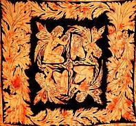 Покрывала 100% Хлопок  Феи Оранжевое (210х240см)