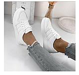 Жіночі класичні кросівки білі, фото 4