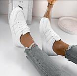 Жіночі класичні кросівки білі, фото 3