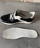 Чоловічі перфоровані кросівки alexandro натуральна шкіра 40, фото 4