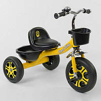 Велосипед 3-х колёсный LM-9033 Best Trike (1) ЖЕЛТЫЙ, пено колесо, метал. рама, звоночек, 2 корзины,