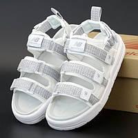 Женские сандалии в стиле New Balance Caravan Multi Sandals, белый, рефлектив, Корея