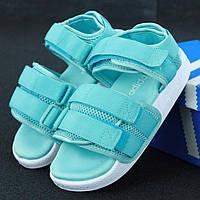 Женские сандалии в стиле Adidas Adilette Sandal, бирюзовый, Китай