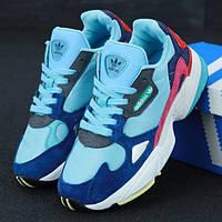 Женские кроссовки в стиле Adidas Falcon W, голубой, синий, красный, Вьетнам