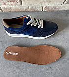 Мужские перфорированные кроссовки alexandro натуральная кожа 40, фото 4