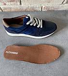 Мужские перфорированные кроссовки alexandro натуральная кожа 44, фото 4