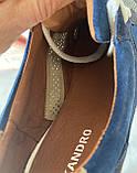 Чоловічі перфоровані кросівки alexandro натуральна шкіра 44, фото 5