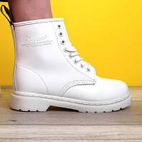 Женские ботинки в стиле Dr.Martens 1460, кожа, белый, Китай