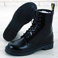 Женские ботинки в стиле Dr.Martens 1460, кожа, черный, Китай