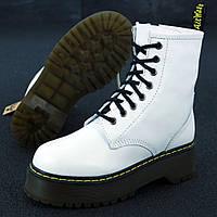 Женские ботинки в стиле Dr.Martens Jadon, кожа, белый, Китай