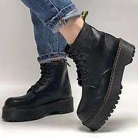 Женские ботинки в стиле Dr.Martens Jadon Mid, кожа, черный, Китай