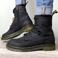 Женские ботинки в стиле Dr.Martens 1460 Vintage, кожа, черный, Китай