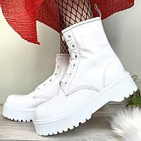 Женские ботинки в стиле Dr.Martens Molly, кожа, белый, Китай