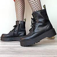 Женские ботинки в стиле Dr.Martens Jadon, кожа, черный, Китай