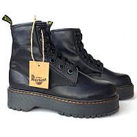 Женские ботинки в стиле Dr.Martens Molly, кожа, черный, Китай