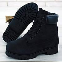 Женские ботинки в стиле Timberland Classic Boots, нубук, черный, Вьетнам
