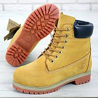 Женские ботинки в стиле Timberland Classic Boots, нубук, песочный, Вьетнам