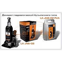 Домкрат автомобильный гидравлический бутылочный 2 т (кейс) Lavita  LA JNS-02PVC