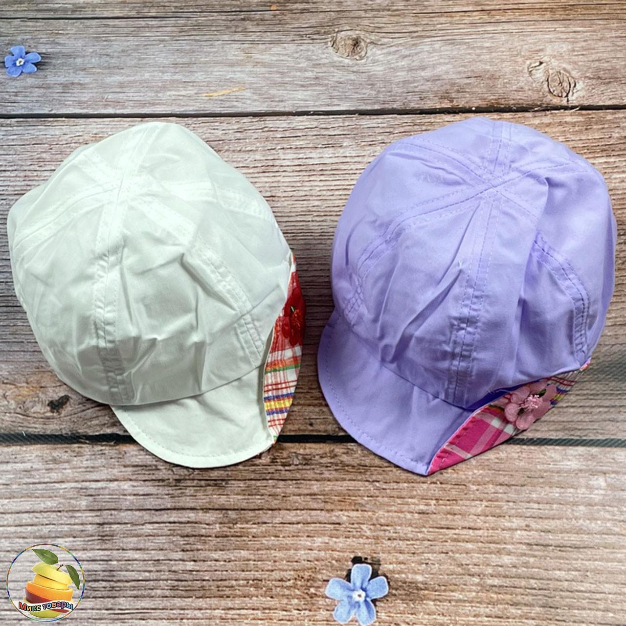 Лёгкая кепочка для девочки (объём 52- 54 см) (01912)