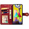 Чехол-книжка GETMAN Gallant для Samsung Galaxy M31 Кожаный Красный (35719), фото 6