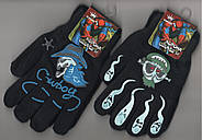 Перчатки подросток двойные на флисе Корона, с рисунками, ассорти, 5062-2, фото 2