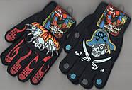 Перчатки подросток двойные на флисе Корона, с рисунками, ассорти, 5062-2, фото 3