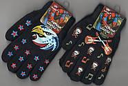 Перчатки подросток двойные на флисе Корона, с рисунками, ассорти, 5062-2, фото 4