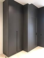 Шафа в коридор в сучасному стилі з фарбованими фасадами мдф