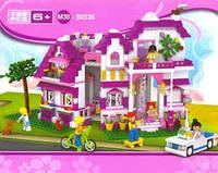 Конструктор sluban розовая мечта загородный домик (m38-b0536)