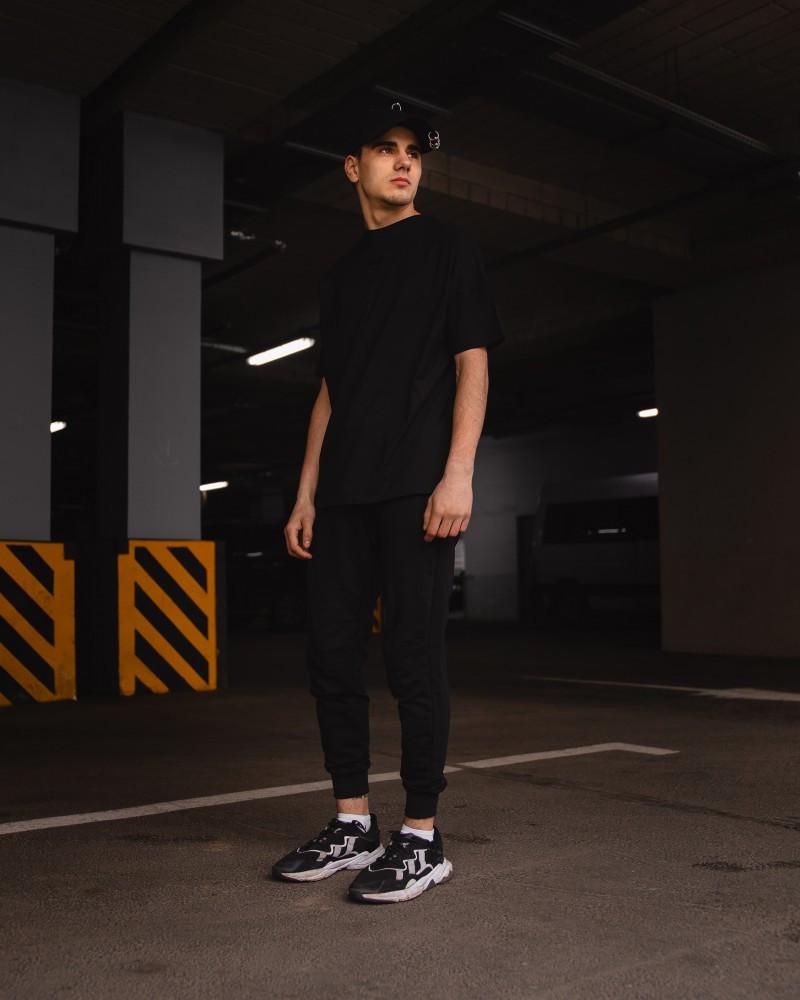 Футболка оверсайз Netero чорна + штани чорні Uzumaki