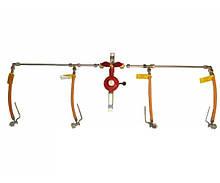 Рампа пропанова на 4 балона 6кг/год 50 mbar (ручна робочий та резервний), комплект