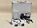 Очки бинокулярные StarDent с подсветкой в кейсе 3.5х420-SLK хирурга стоматолога часовщика ювелира, фото 3