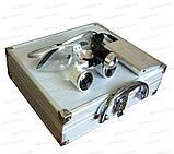 Очки бинокулярные StarDent с подсветкой в кейсе 3.5х420-SLK хирурга стоматолога часовщика ювелира, фото 7