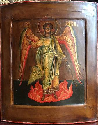 Ікона Ангел хранитель 19 століття Мстера Росія, фото 2
