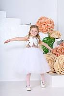 Дитяча сукня Періс (116-122) білий персик