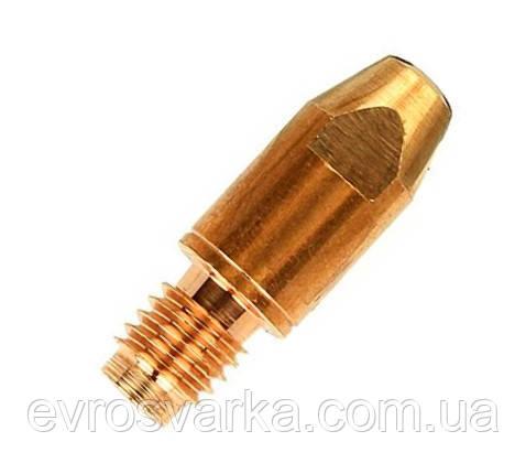 Токосъемные наконечники CuCrZr  M8 Ø 0,8 / 1,0 / 1,2 / 1,6 / 2,0 (длина 30мм)