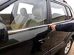 Hyundai Tucson JM 2004↗ рр. Окантовка скла (4 шт, нерж)