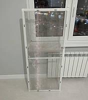 Антикошка - Стальная сетка на окна полотно с нержавеющей стали цвет рамы белый