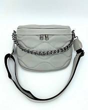 Женская сумка «Пеги» серая Welassie (W90201)