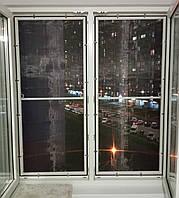 Антикошка - Сетка москитная на окна полотно с нержавеющей стали профиль белый