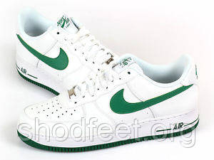 Мужские кроссовки Nike Air Force 1 White Green Low